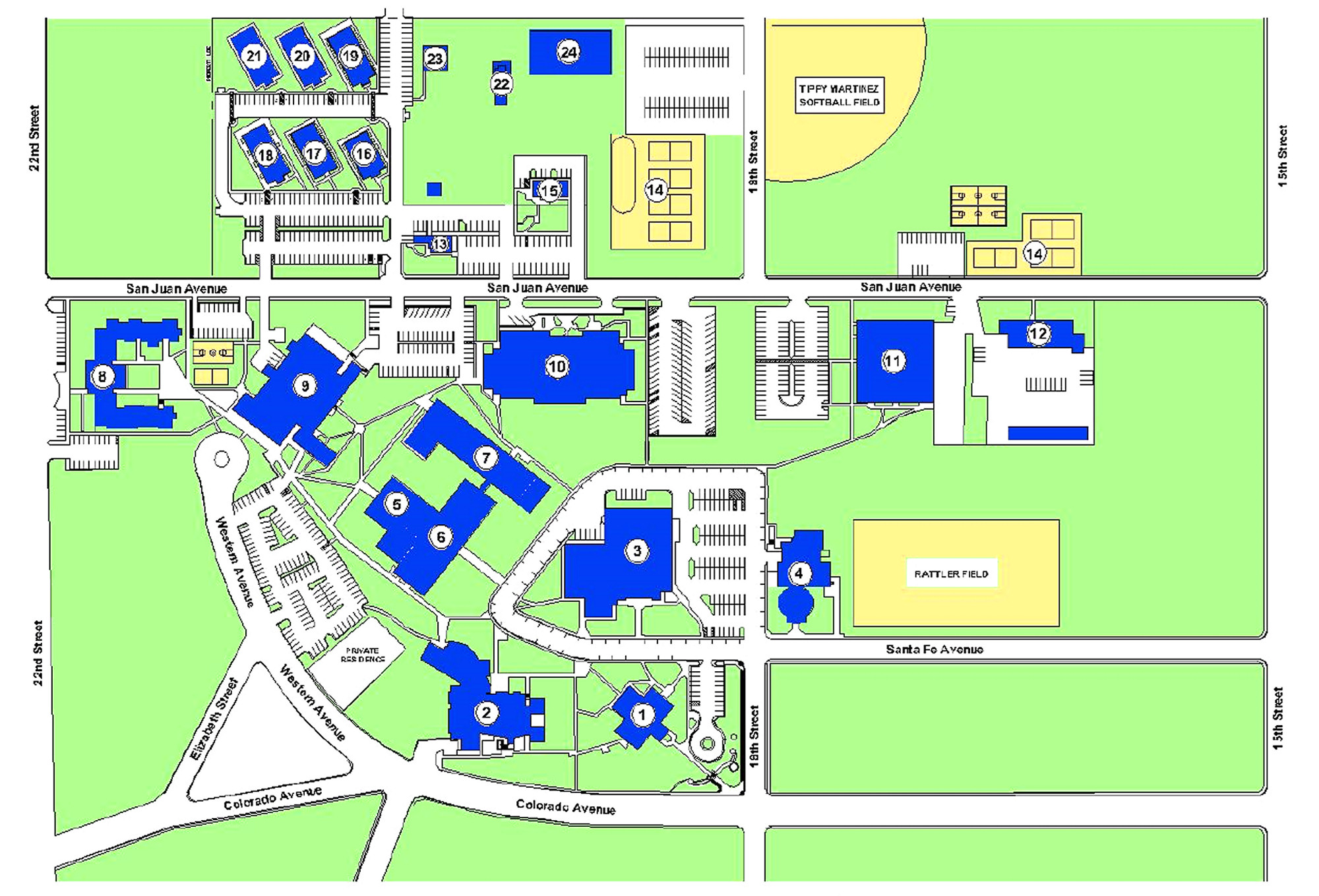 rockland community college campus map Campus Map Buildings About Wwcc Walla Walla Community rockland community college campus map