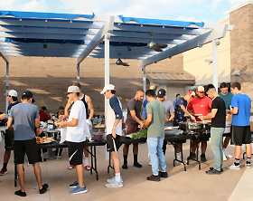 Students at OJC enjoying the Welcome Back BBQ hosted before the Fall Semester 2018 started at OJC.