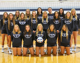 The 2018-2019 OJC volleyball team pictured. They were ranked 19 in the nation this past fall.