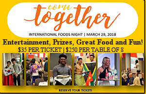 International Foods Night - Registration Now Open!